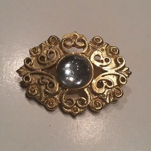 "🌛"" VINTAGE "", OVER THE MOON BROOCH 🌜"